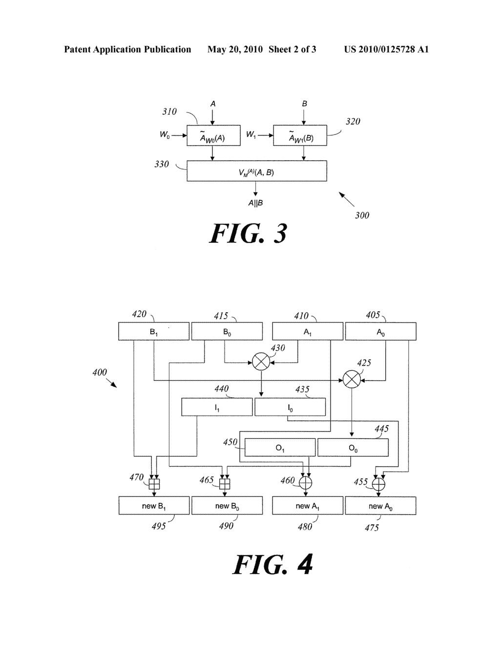 METHOD OF IMPLEMENTING ONE WAY HASH FUNCTIONS AND APPARATUS THEREFOR - diagram, schematic, and image 03