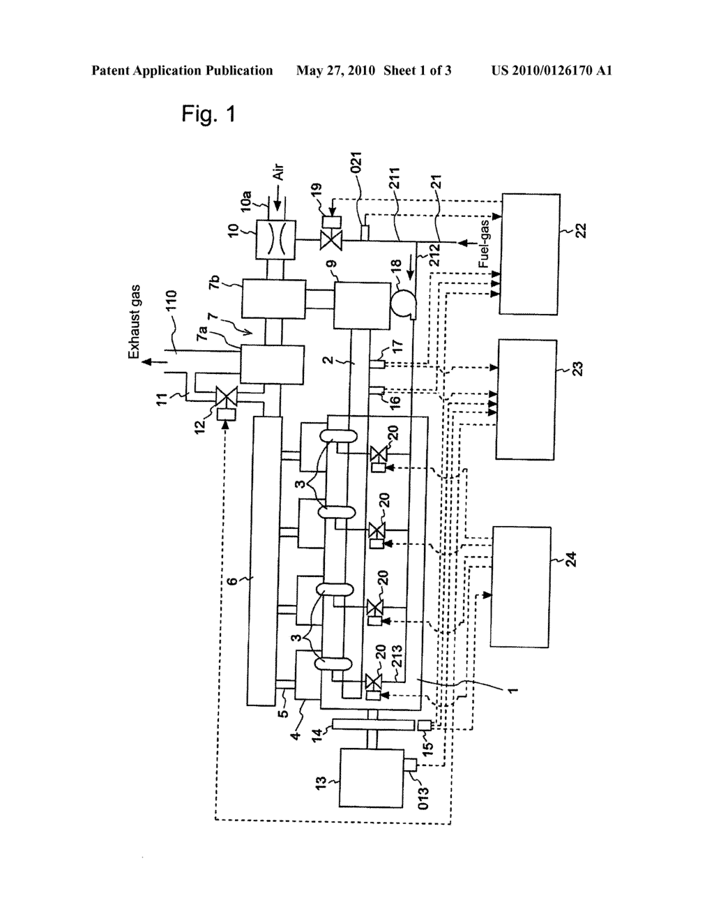 METHOD TO CONTROL A GAS ENGINE SYSTEM THEREOF - diagram, schematic, and image 02
