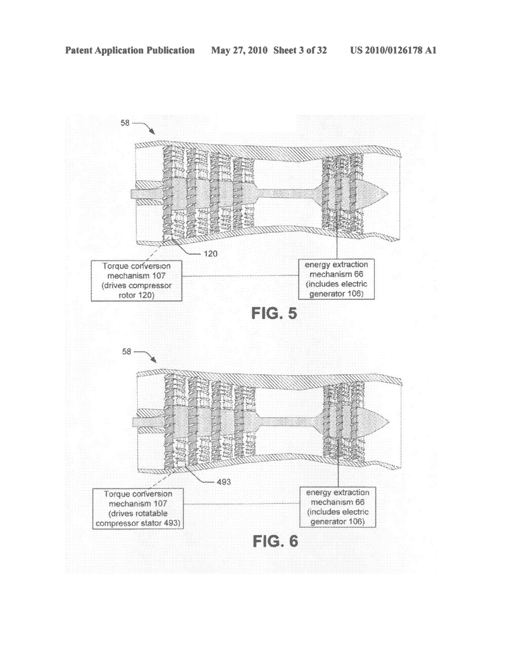 Hybrid propulsive engine including at least one independently rotatable turbine stator - diagram, schematic, and image 04