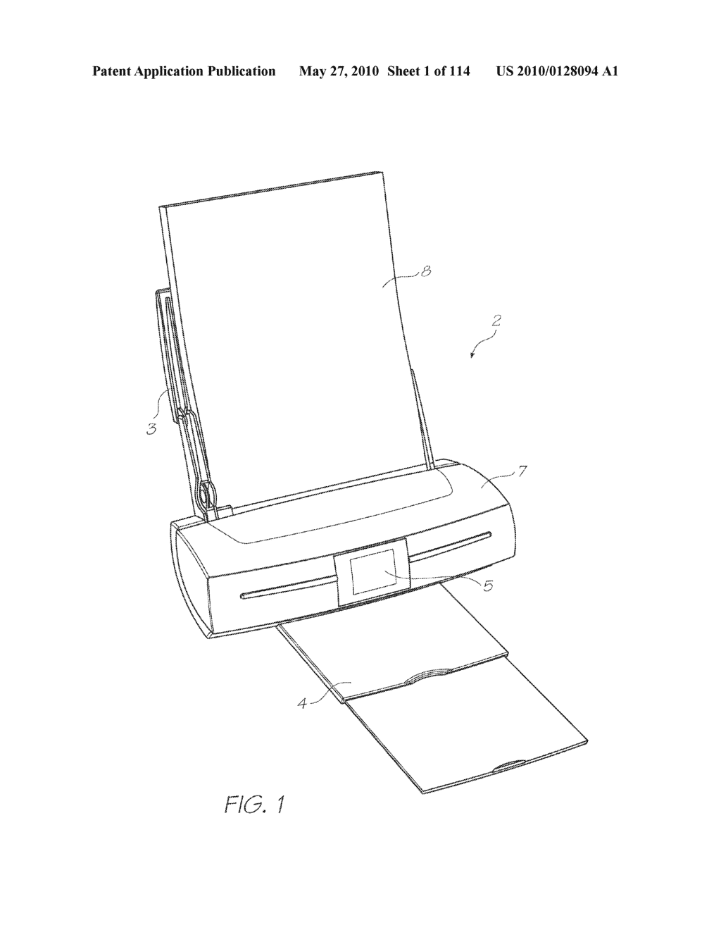 Print Engine With A Refillable Printer Cartridge And Ink Refill Port - diagram, schematic, and image 02