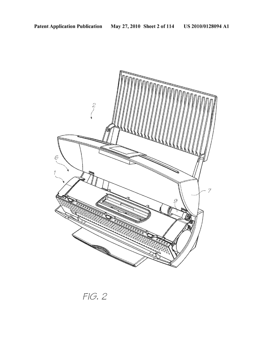 Print Engine With A Refillable Printer Cartridge And Ink Refill Port - diagram, schematic, and image 03