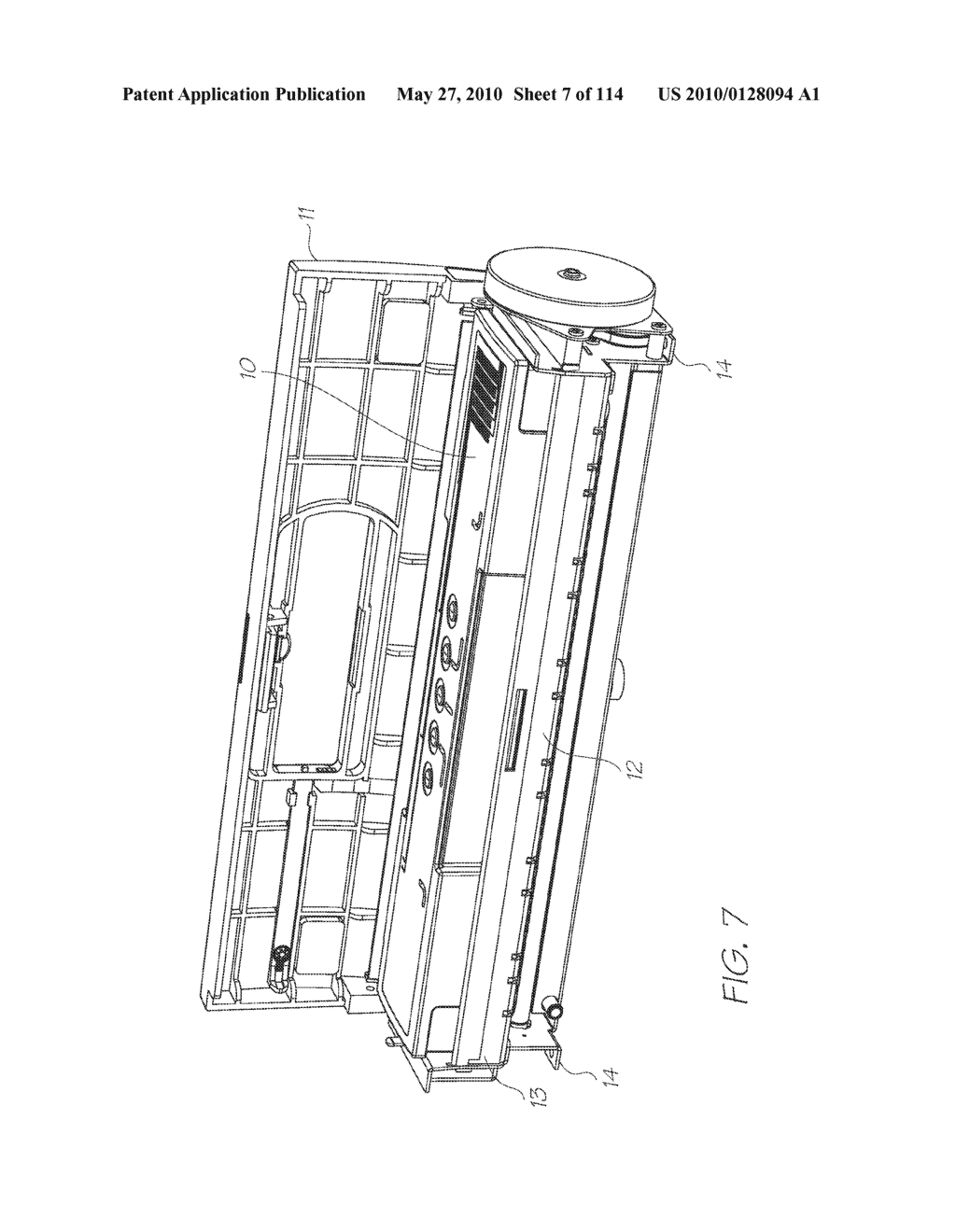 Print Engine With A Refillable Printer Cartridge And Ink Refill Port - diagram, schematic, and image 08