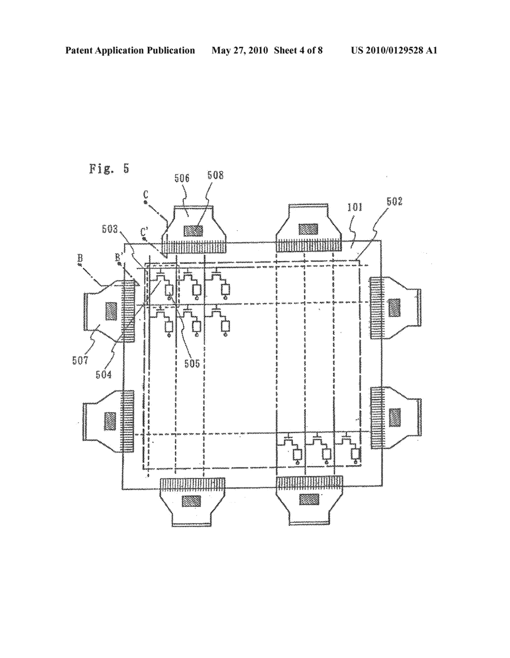 DISPLAY DEVICE AND METHOD OF FABRICATING THE SAME - diagram, schematic, and image 05