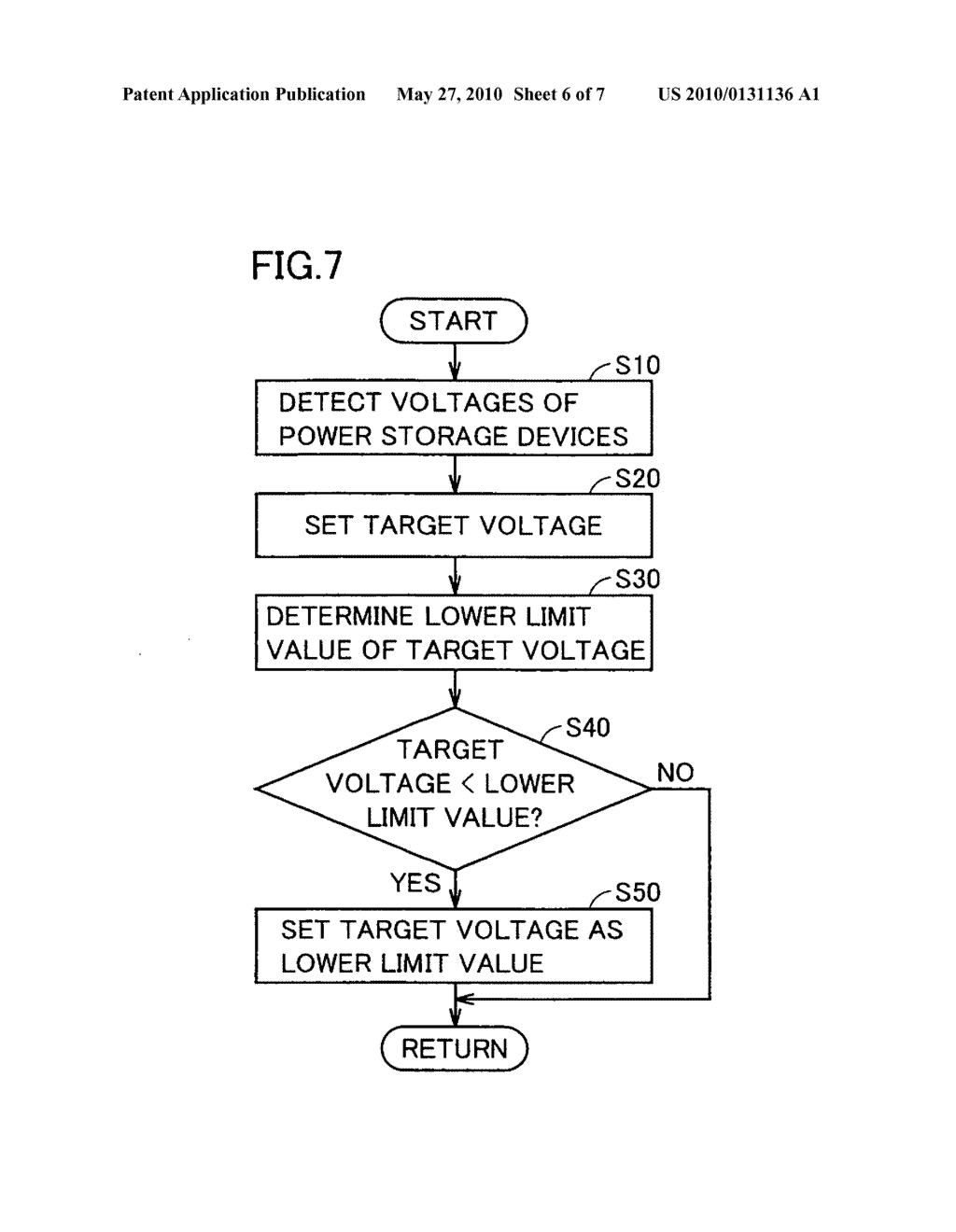 POWER SUPPLY SYSTEM, VEHICLE INCLUDING THE SAME, CONTROL METHOD FOR POWER SUPPLY SYSTEM, AND COMPUTER-READABLE RECORDING MEDIUM RECORDING PROGRAM FOR CAUSING COMPUTER TO EXECUTE THE CONTROL METHOD - diagram, schematic, and image 07