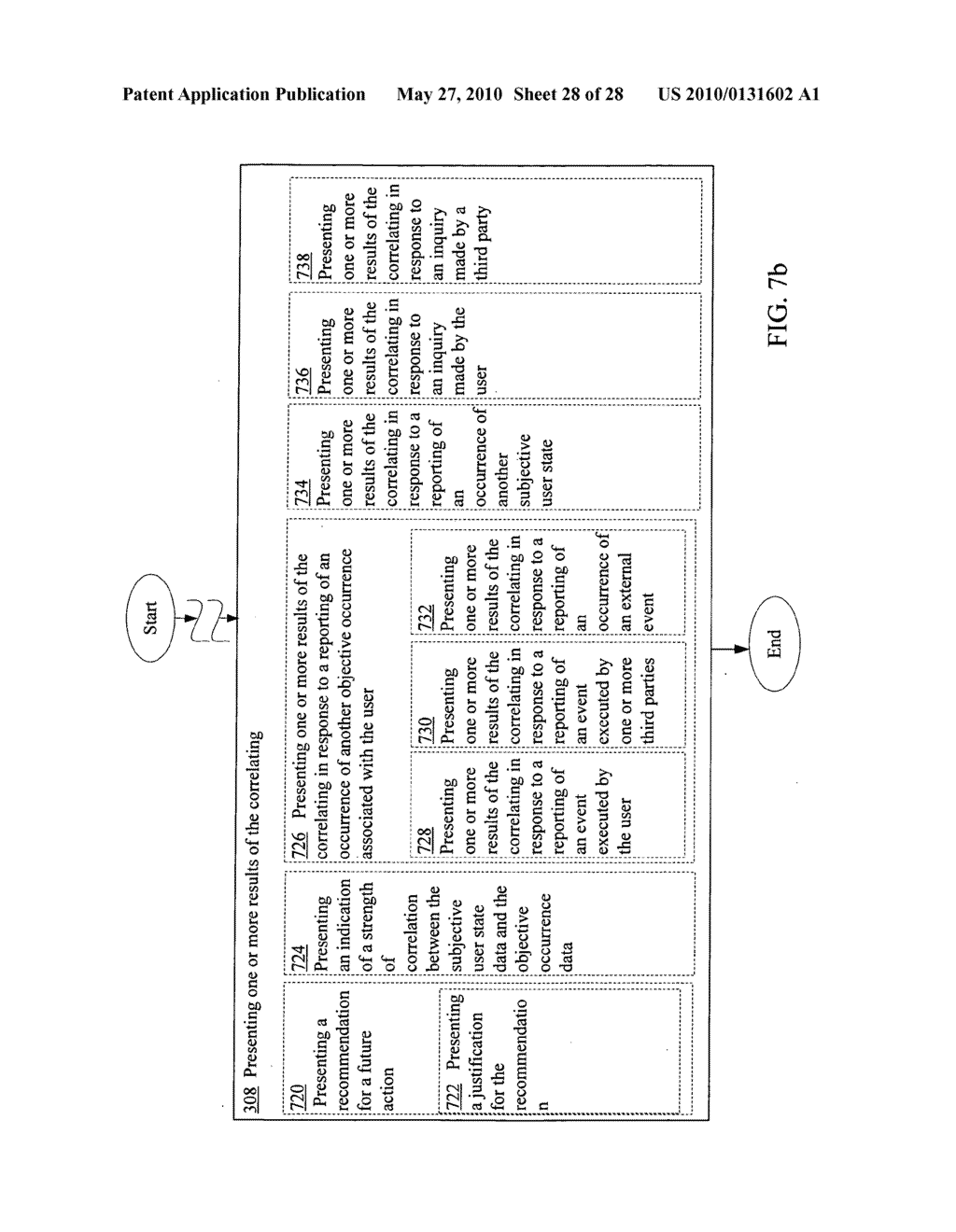 Correlating data indicating at least one subjective user state with data indicating at least one objective occurrence associated with a user - diagram, schematic, and image 29