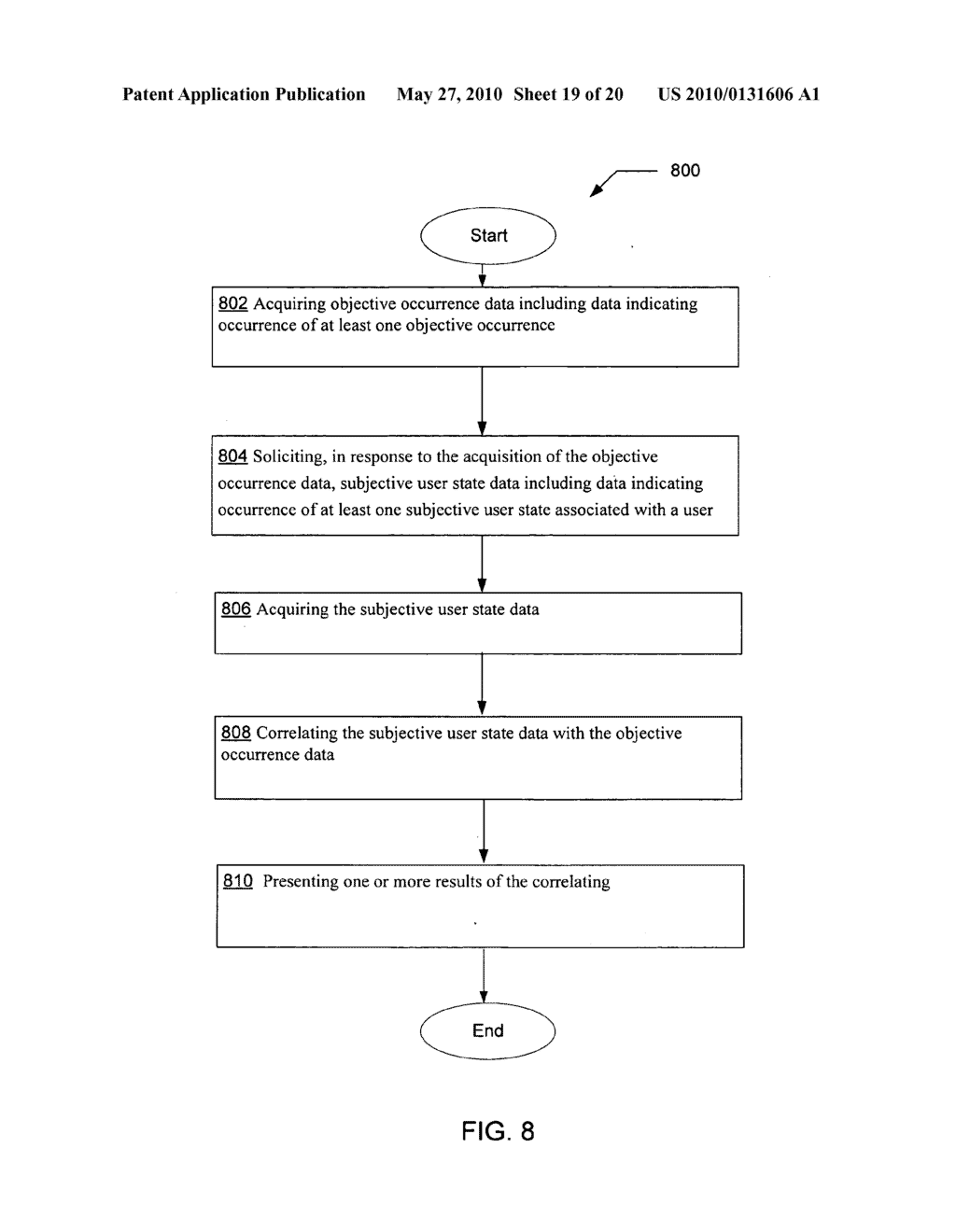 Soliciting data indicating at least one subjective user state in response to acquisition of data indicating at least one objective occurrence - diagram, schematic, and image 20