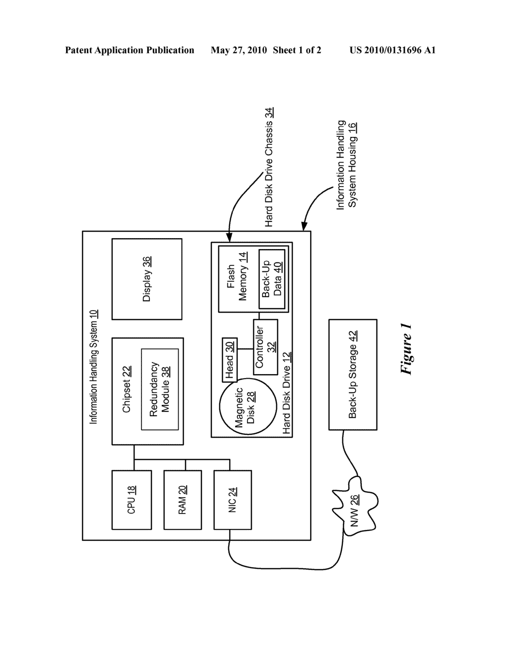 System and Method for Information Handling System Data Redundancy - diagram, schematic, and image 02