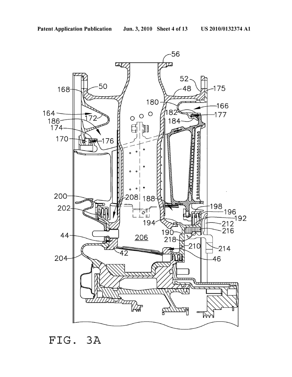 TURBINE FRAME ASSEMBLY AND METHOD FOR A GAS TURBINE ENGINE - diagram,  schematic, and image 05