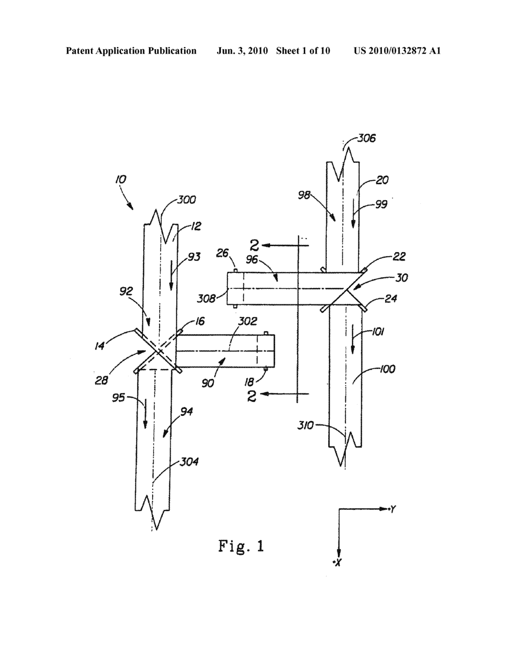 Method of Placing A Material Transversely on a Moving Web - diagram, schematic, and image 02