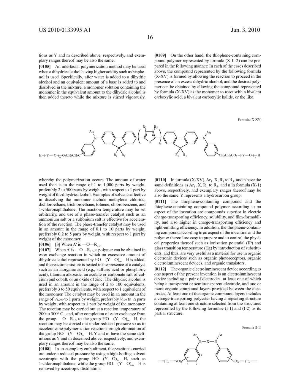 Novel thiophene-containing compound and thiophene-containing compound polymer, organic electroluminescent device, production method thereof, and image display medium - diagram, schematic, and image 27