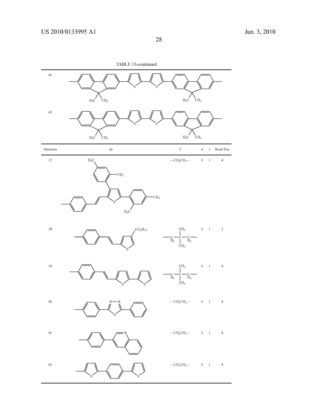Novel thiophene-containing compound and thiophene-containing compound polymer, organic electroluminescent device, production method thereof, and image display medium - diagram, schematic, and image 39
