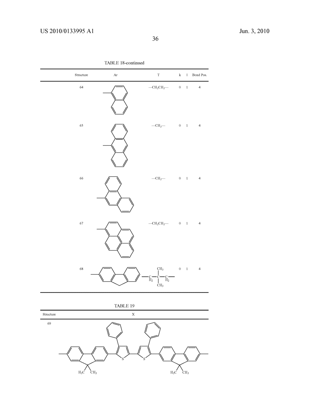 Novel thiophene-containing compound and thiophene-containing compound polymer, organic electroluminescent device, production method thereof, and image display medium - diagram, schematic, and image 47