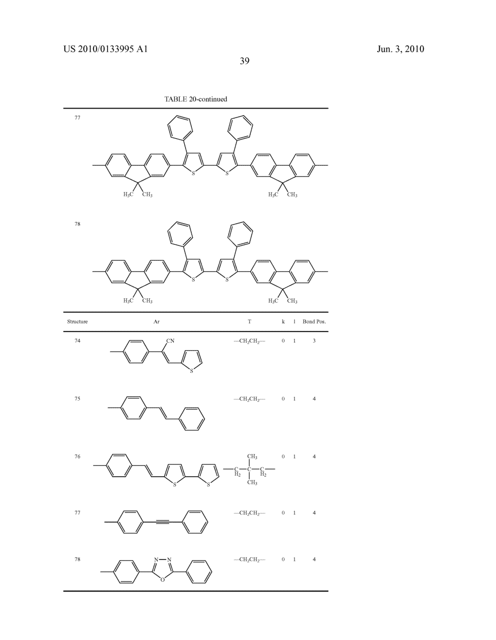 Novel thiophene-containing compound and thiophene-containing compound polymer, organic electroluminescent device, production method thereof, and image display medium - diagram, schematic, and image 50