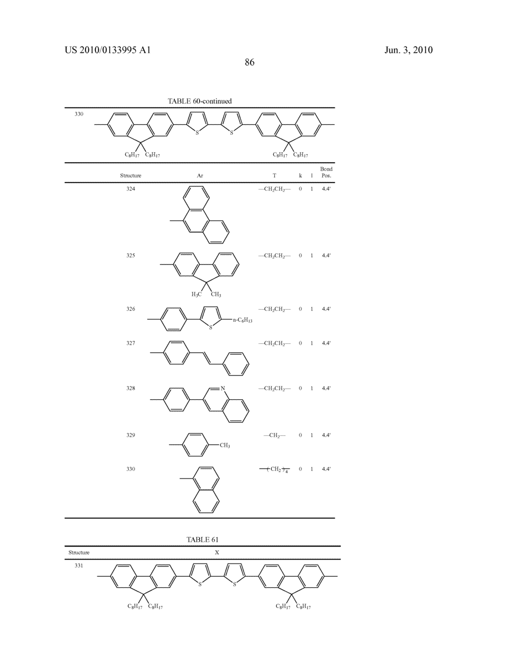 Novel thiophene-containing compound and thiophene-containing compound polymer, organic electroluminescent device, production method thereof, and image display medium - diagram, schematic, and image 97
