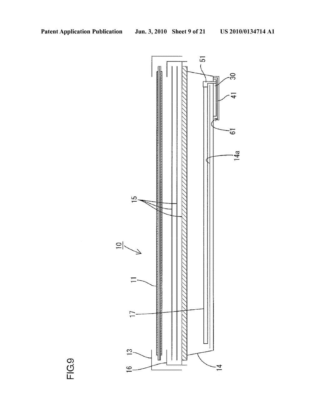 LIGHTING DEVICE FOR USE WITH DISPLAY APPARATUS AND DISPLAY APPARATUS - diagram, schematic, and image 10
