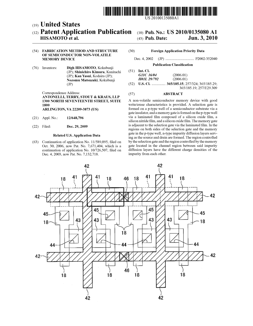 FABRICATION METHOD AND STRUCTURE OF SEMICONDUCTOR NON-VOLATILE MEMORY DEVICE - diagram, schematic, and image 01