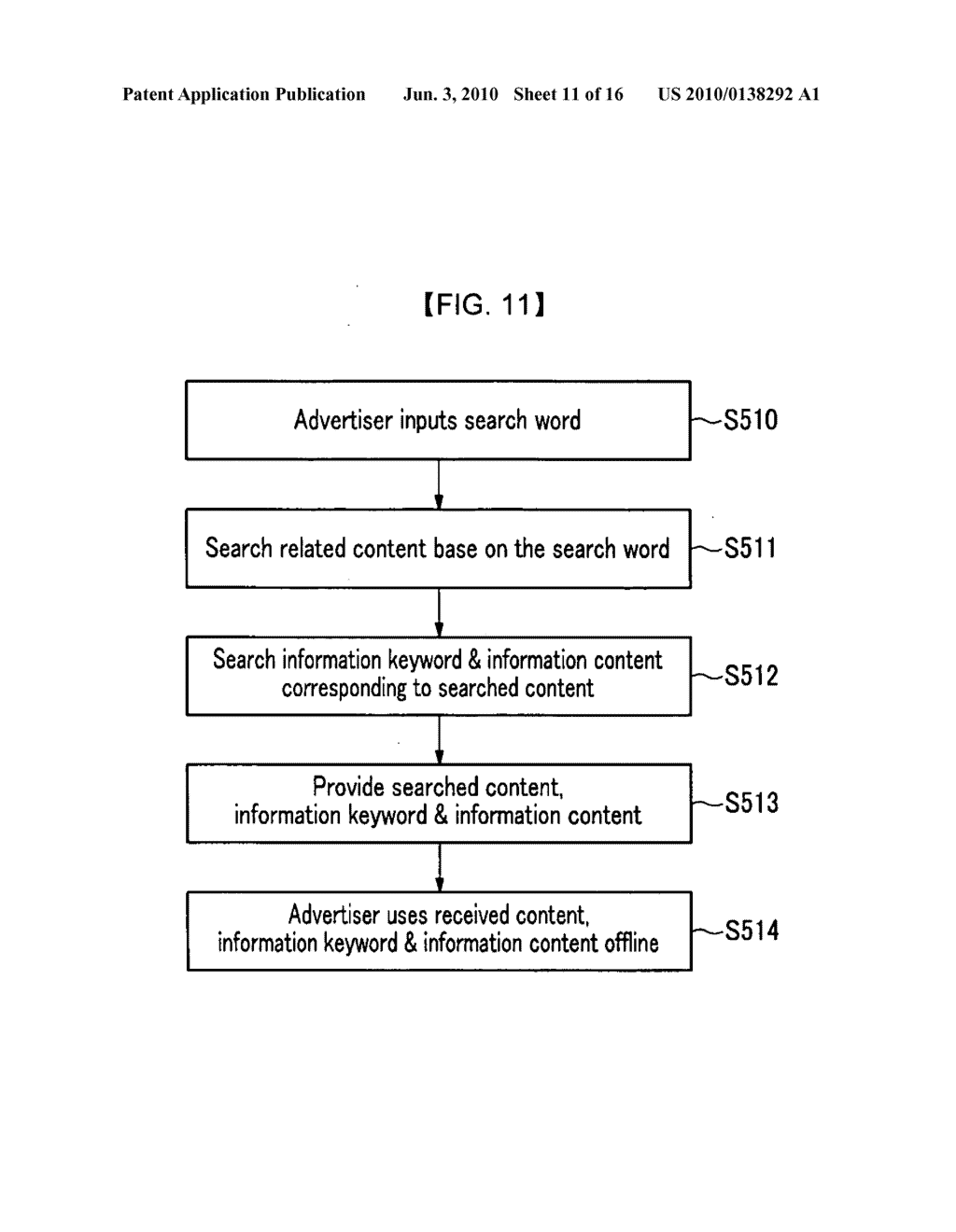 METHOD FOR PROVIDING AND SEARCHING INFORMATION KEYWORD AND INFORMATION CONTENTS RELATED TO CONTENTS AND SYSTEM THEREOF - diagram, schematic, and image 12