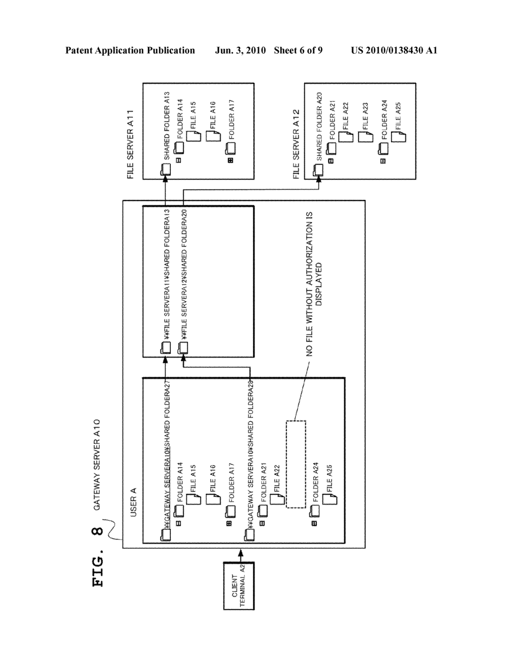 GATEWAY SERVER, FILE MANAGEMENT SYSTEM, AND FILE MANAGEMENT METHOD AND PROGRAM - diagram, schematic, and image 07