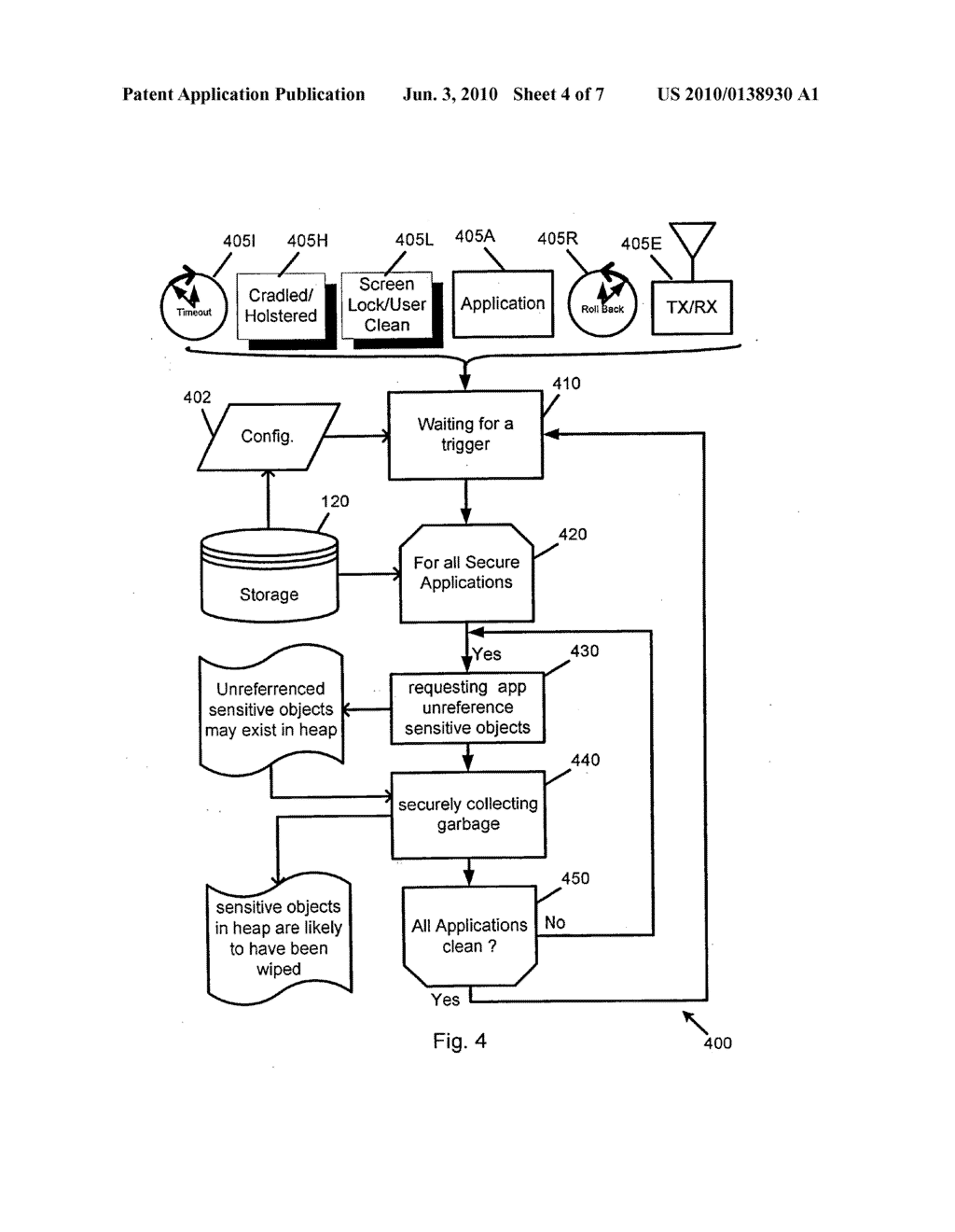 System and Method of Secure Garbage Collection on a Mobile Device - diagram, schematic, and image 05