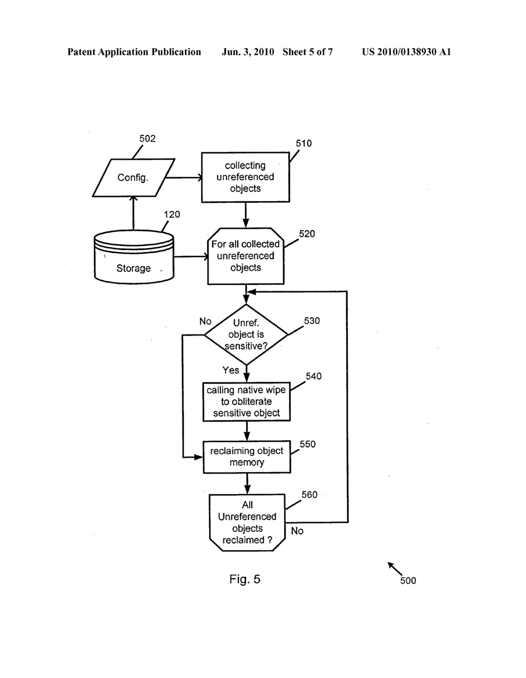 System and Method of Secure Garbage Collection on a Mobile Device - diagram, schematic, and image 06