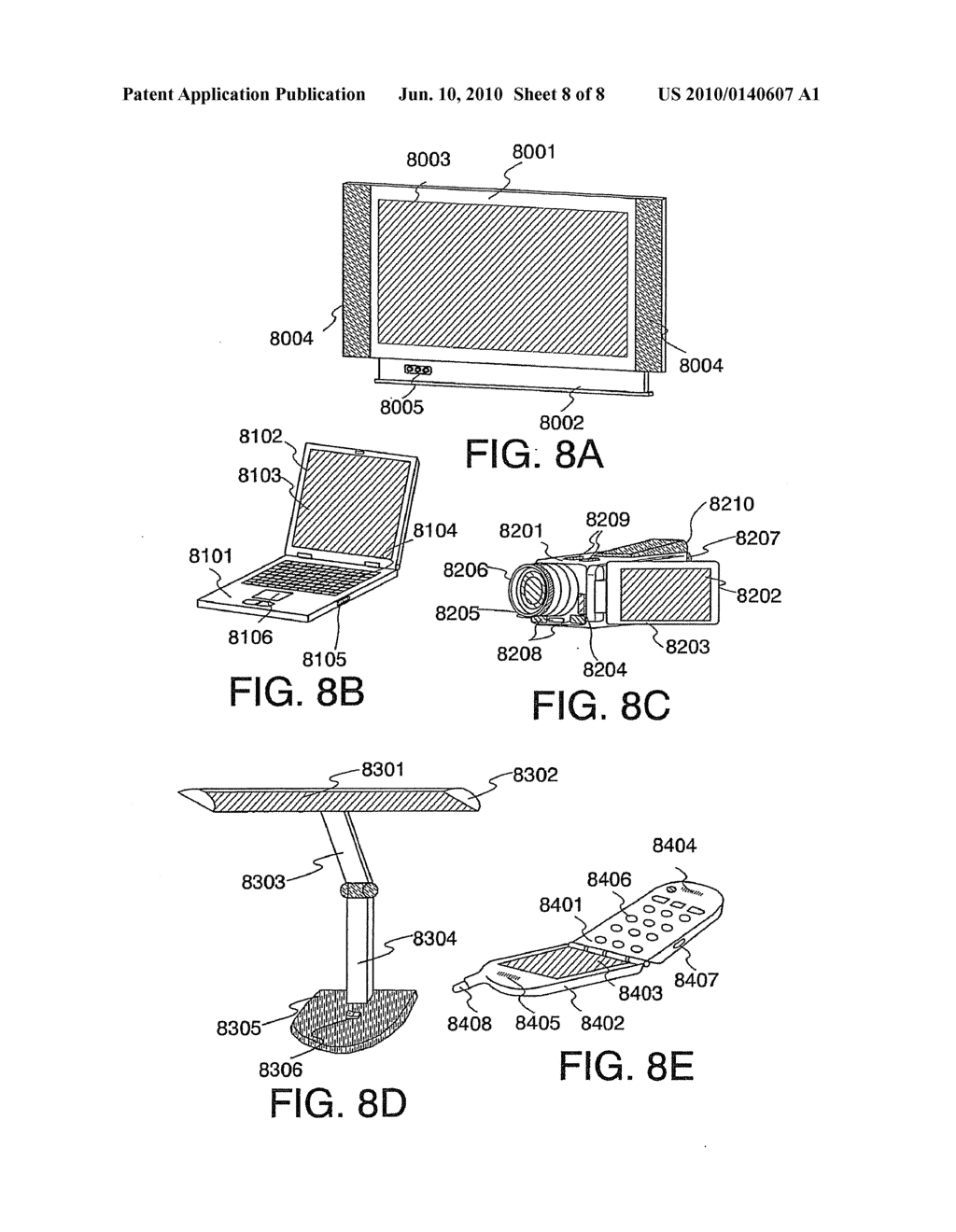 Light Emitting Element and Light Emitting Device Using the Element - diagram, schematic, and image 09