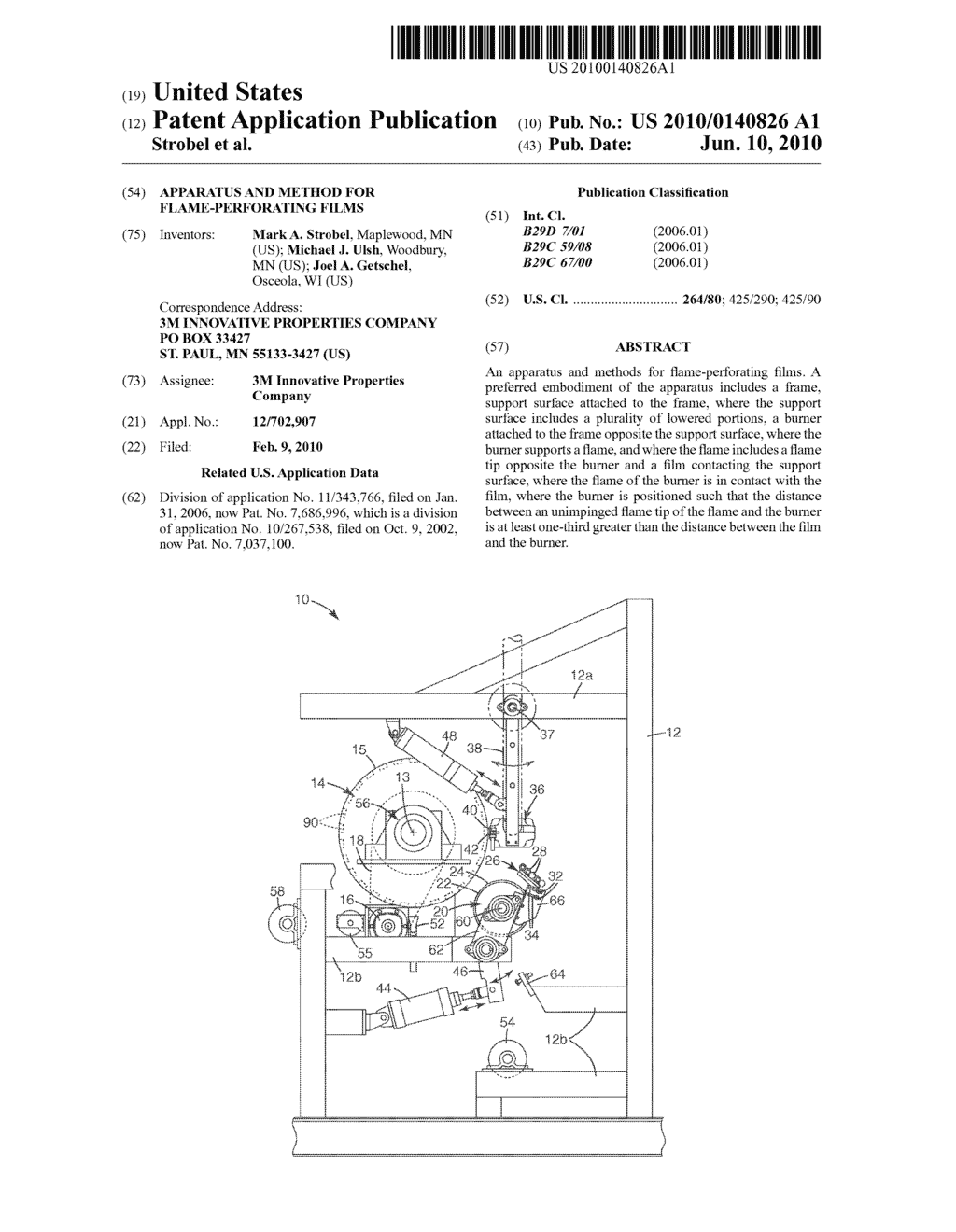 APPARATUS AND METHOD FOR FLAME-PERFORATING FILMS - diagram, schematic, and image 01
