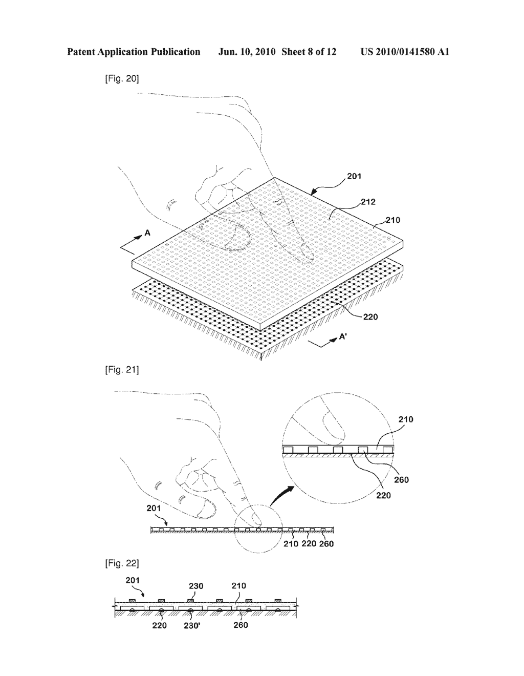 PIEZO-ELECTRIC SENSING UNIT AND DATA INPUT DEVICE USING PIEZO-ELECTRIC SENSING - diagram, schematic, and image 09