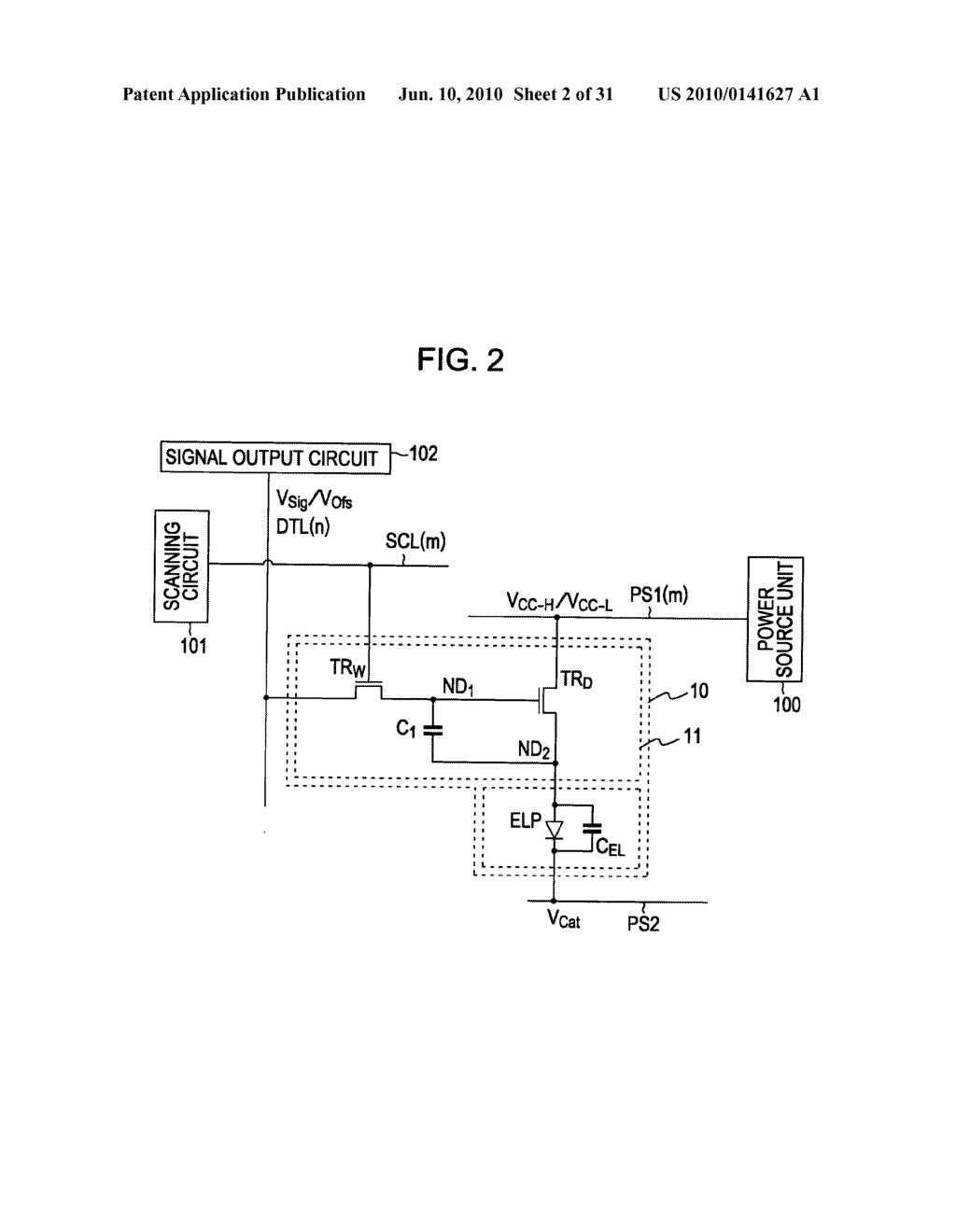 Method of driving organic electroluminescence display apparatus - diagram, schematic, and image 03