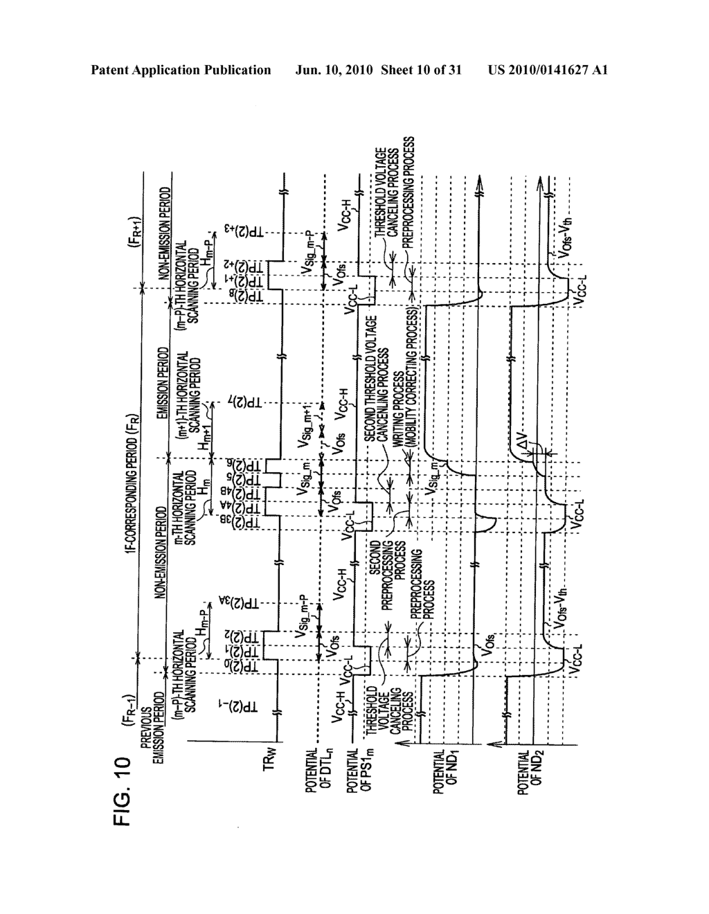 Method of driving organic electroluminescence display apparatus - diagram, schematic, and image 11