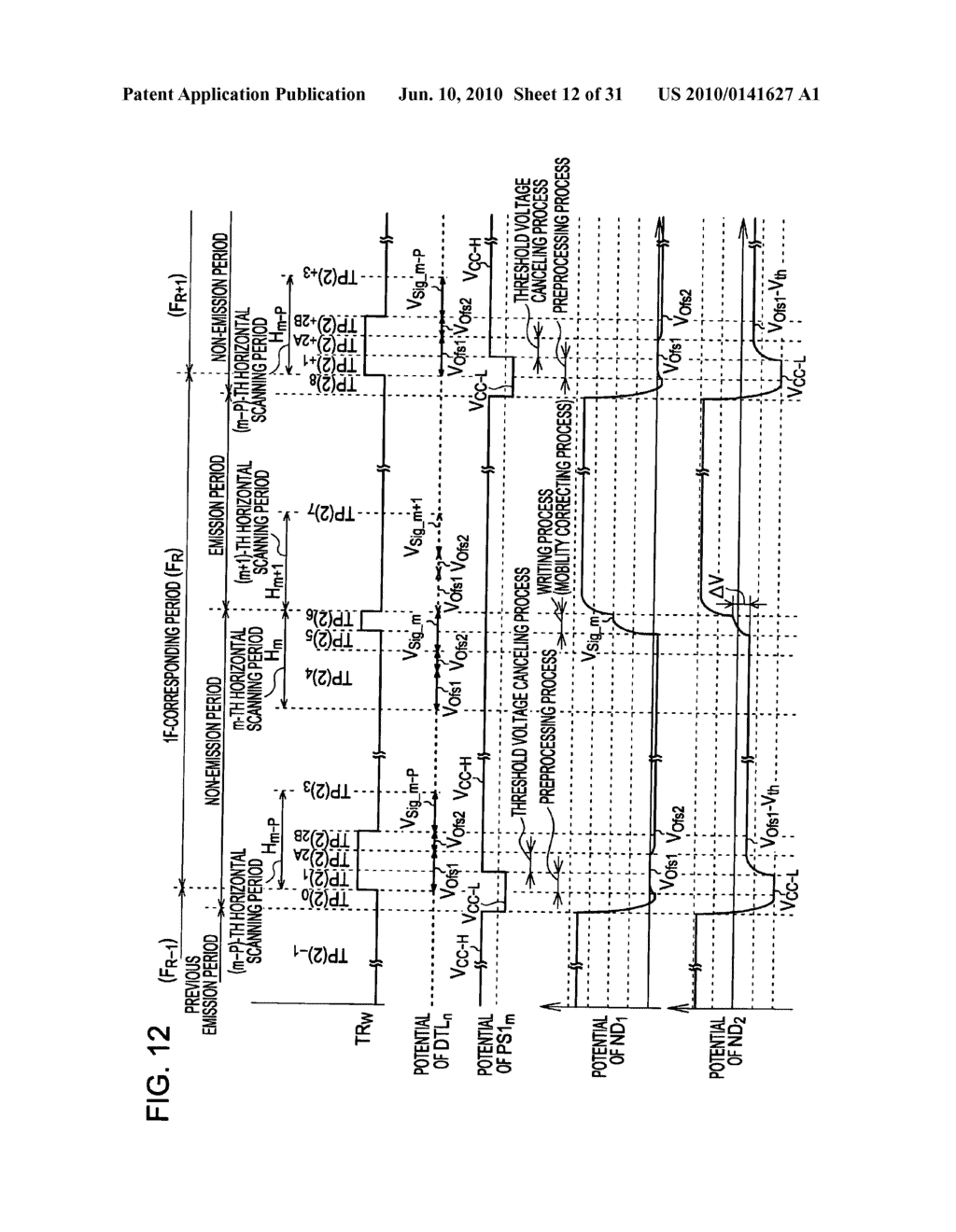 Method of driving organic electroluminescence display apparatus - diagram, schematic, and image 13