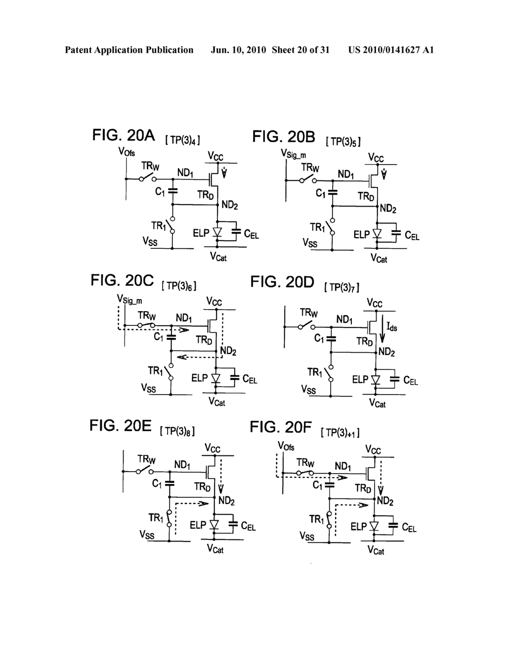 Method of driving organic electroluminescence display apparatus - diagram, schematic, and image 21
