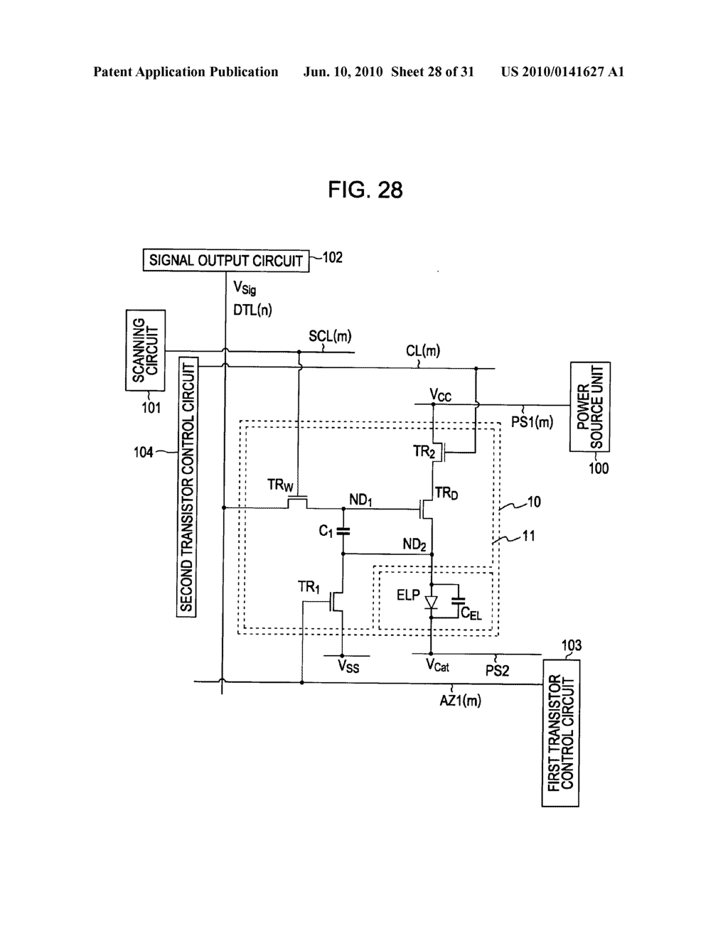Method of driving organic electroluminescence display apparatus - diagram, schematic, and image 29