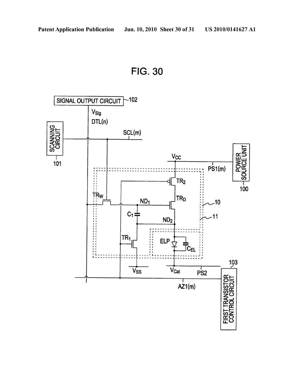 Method of driving organic electroluminescence display apparatus - diagram, schematic, and image 31