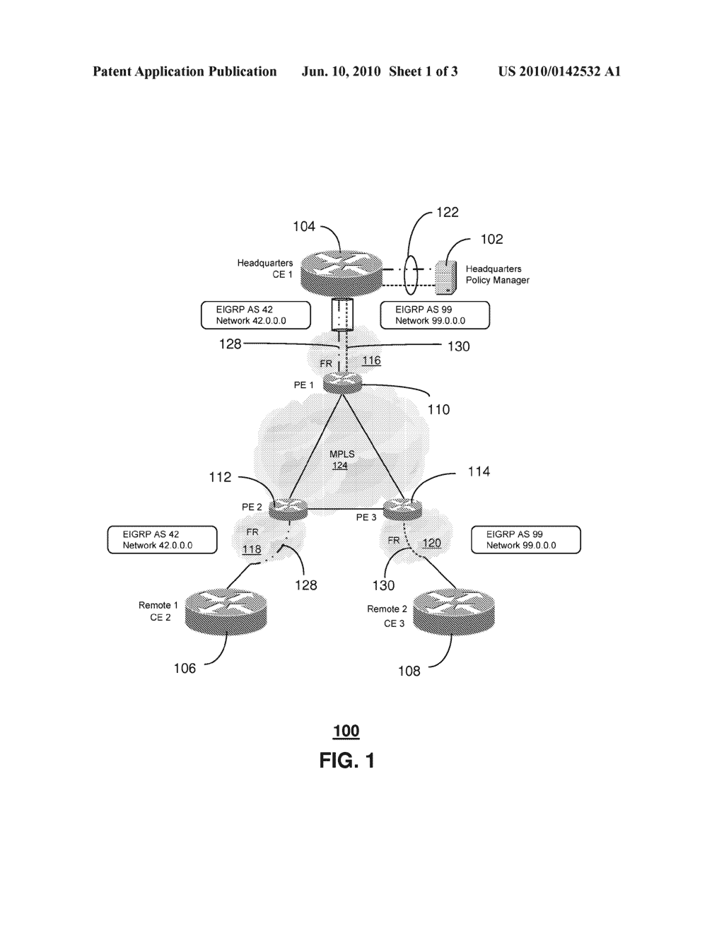 SYSTEM AND METHOD FOR ROUTING PACKET TRAFFIC - diagram, schematic, and image 02