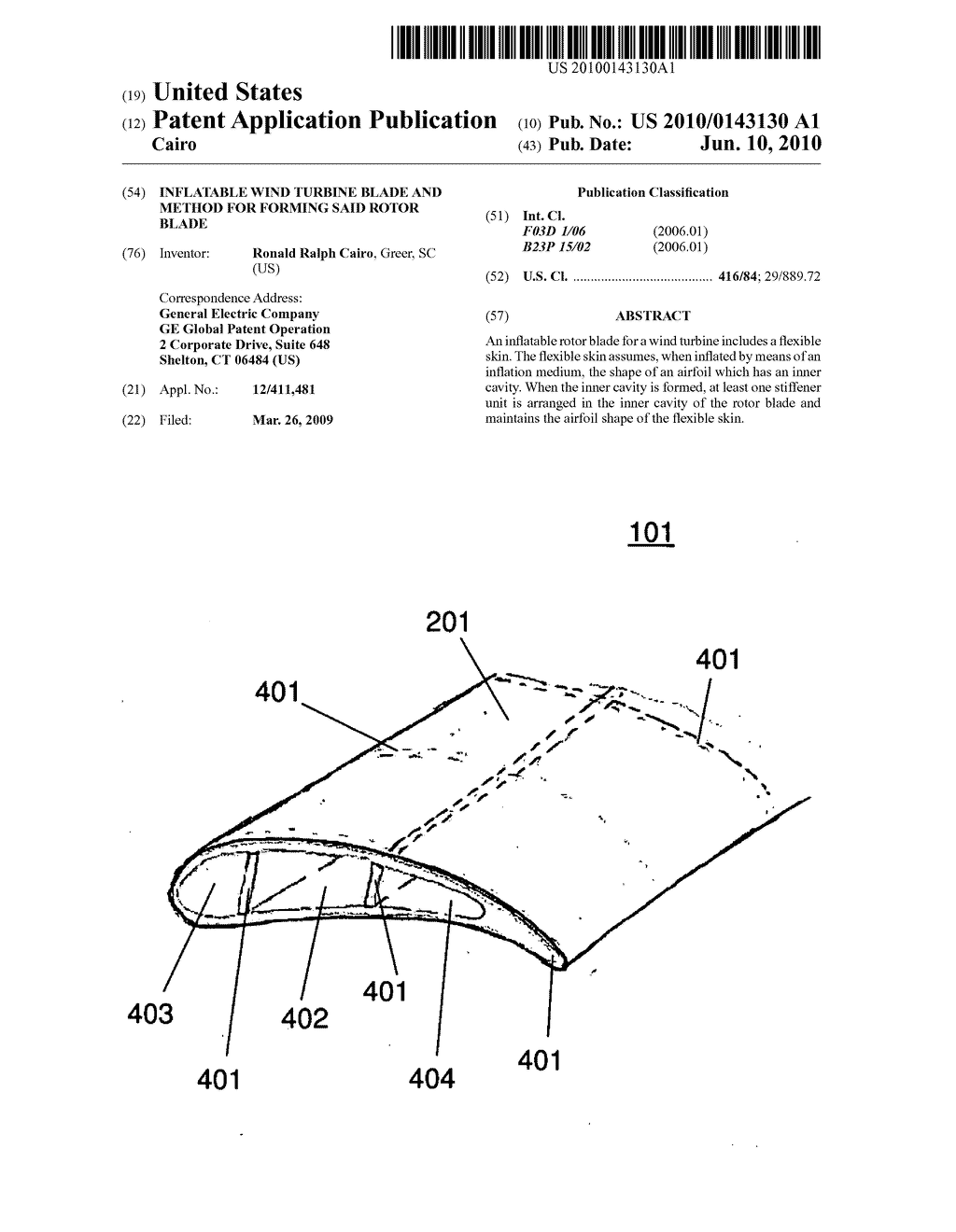 Inflatable Wind Turbine Blade And Method For Forming Said Rotor Mill Diagram Schematic Image 01