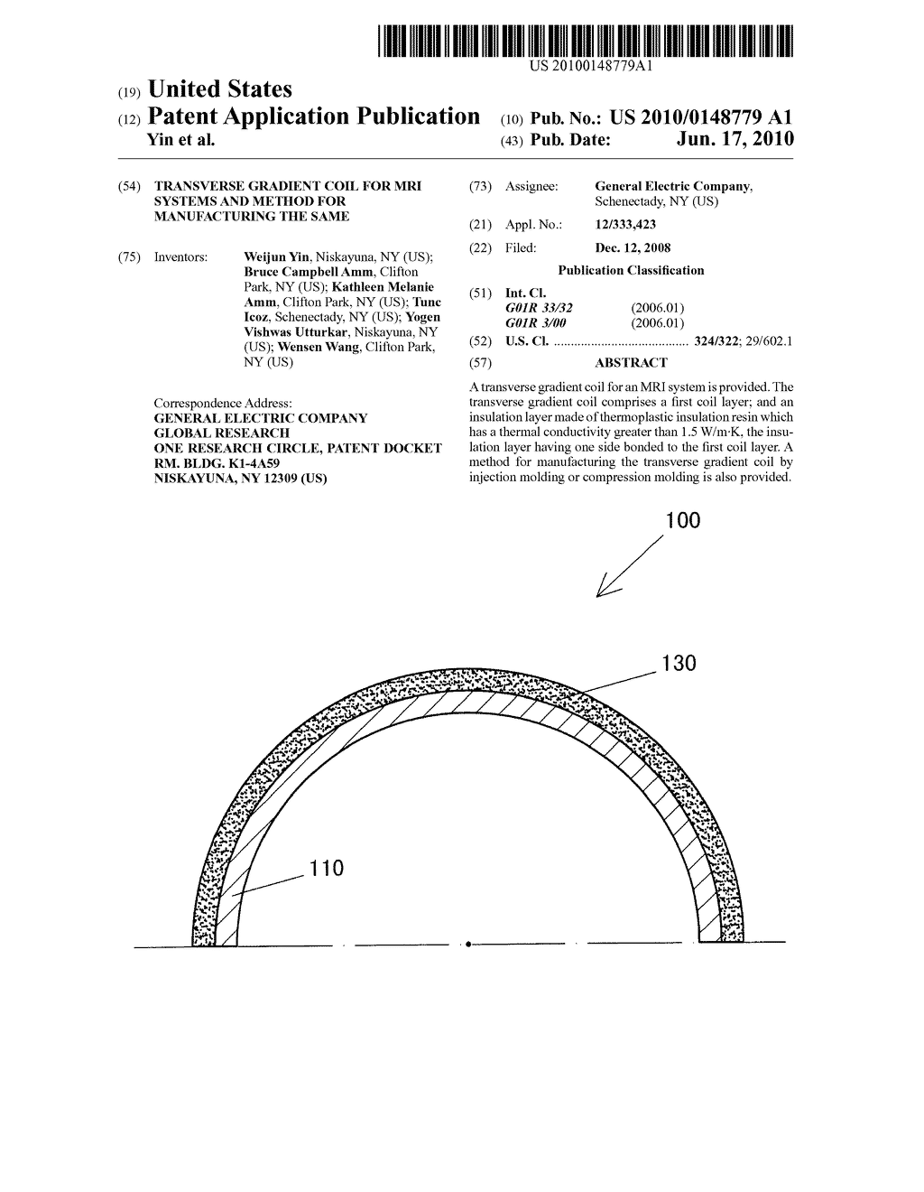 TRANSVERSE GRADIENT COIL FOR MRI SYSTEMS AND METHOD FOR MANUFACTURING THE SAME - diagram, schematic, and image 01
