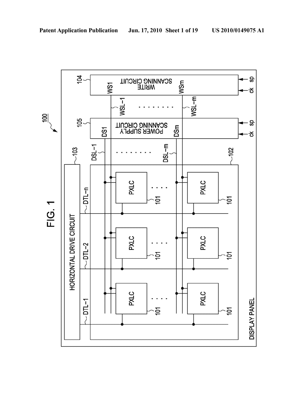 DISPLAY DEVICE, METHOD FOR DRIVING THE SAME, AND ELECTRONIC APPARATUS - diagram, schematic, and image 02