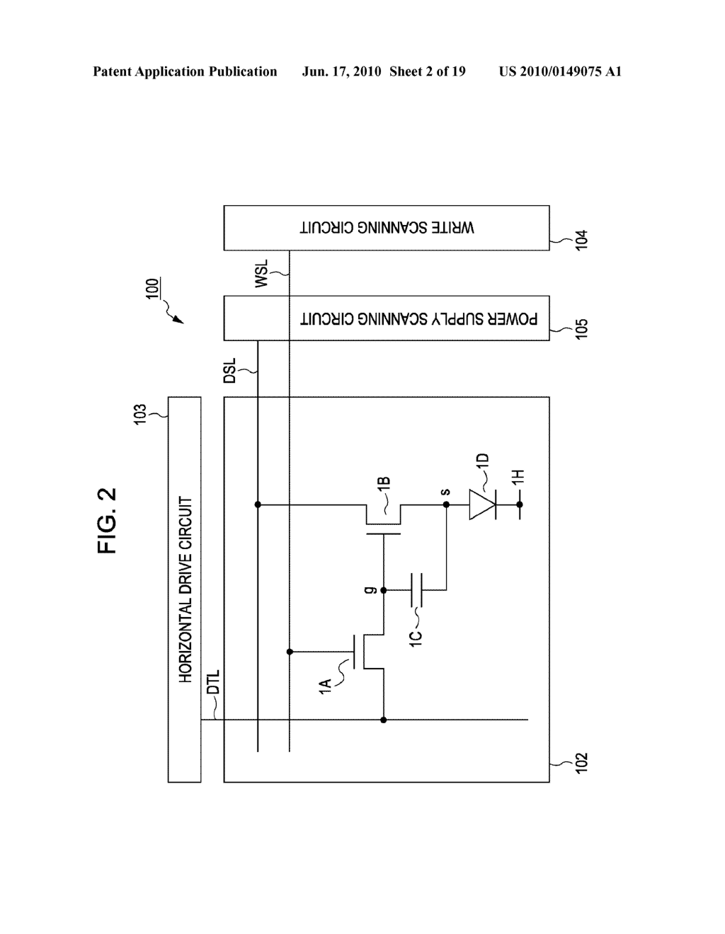 DISPLAY DEVICE, METHOD FOR DRIVING THE SAME, AND ELECTRONIC APPARATUS - diagram, schematic, and image 03