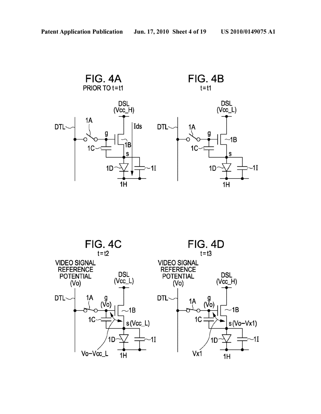DISPLAY DEVICE, METHOD FOR DRIVING THE SAME, AND ELECTRONIC APPARATUS - diagram, schematic, and image 05