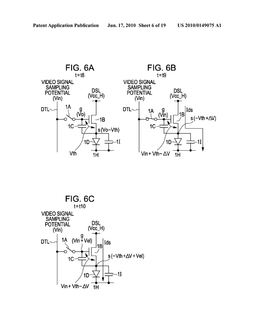 DISPLAY DEVICE, METHOD FOR DRIVING THE SAME, AND ELECTRONIC APPARATUS - diagram, schematic, and image 07