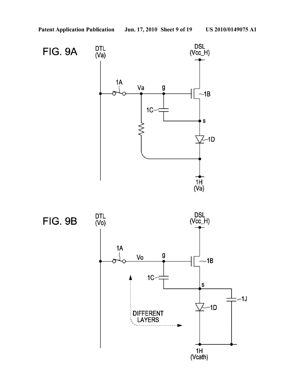 DISPLAY DEVICE, METHOD FOR DRIVING THE SAME, AND ELECTRONIC APPARATUS - diagram, schematic, and image 10