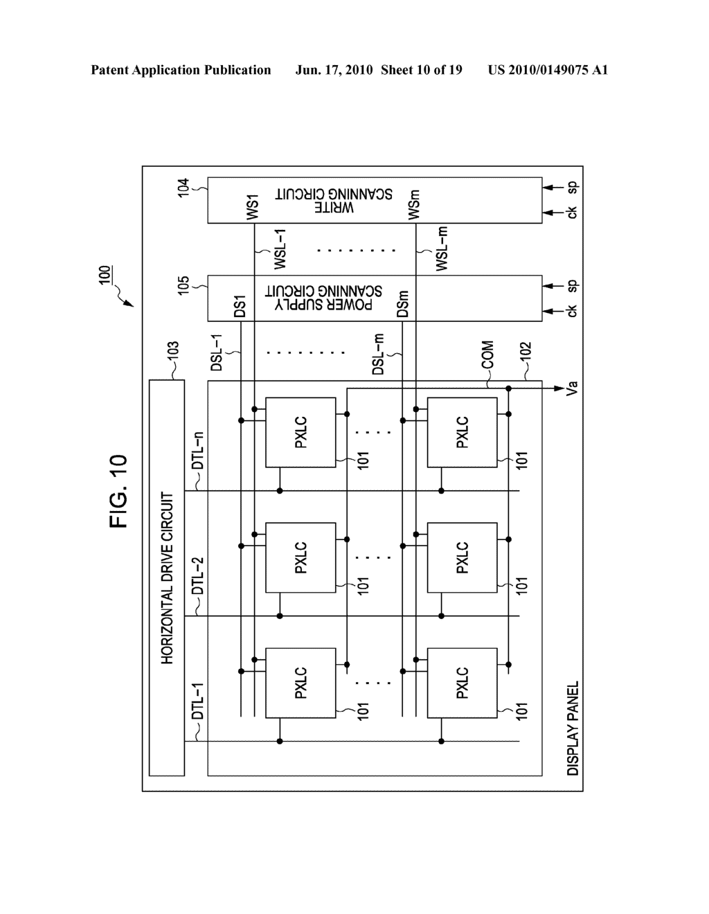 DISPLAY DEVICE, METHOD FOR DRIVING THE SAME, AND ELECTRONIC APPARATUS - diagram, schematic, and image 11