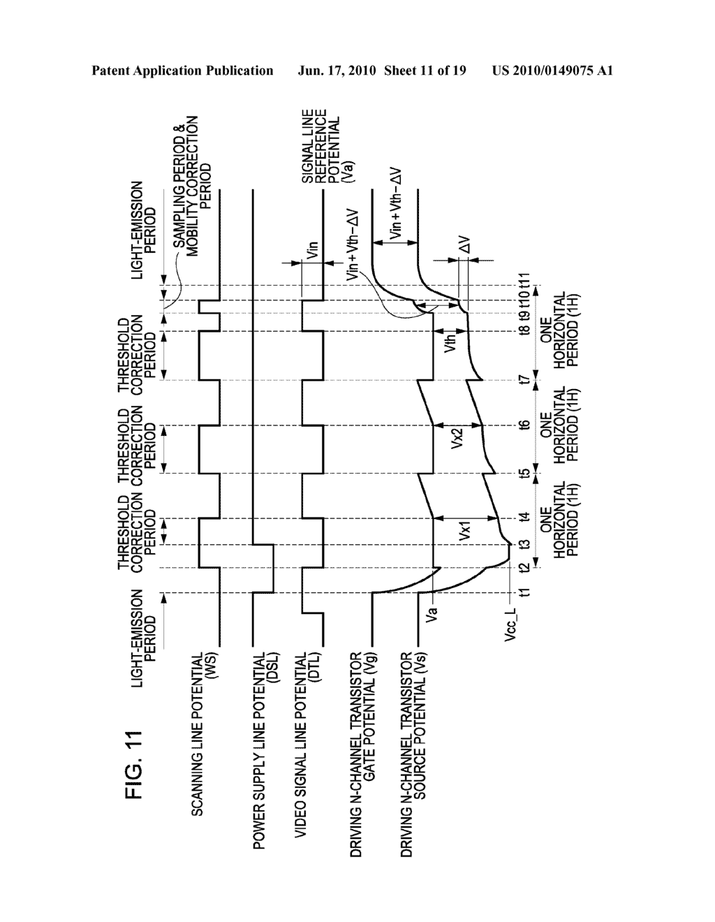 DISPLAY DEVICE, METHOD FOR DRIVING THE SAME, AND ELECTRONIC APPARATUS - diagram, schematic, and image 12