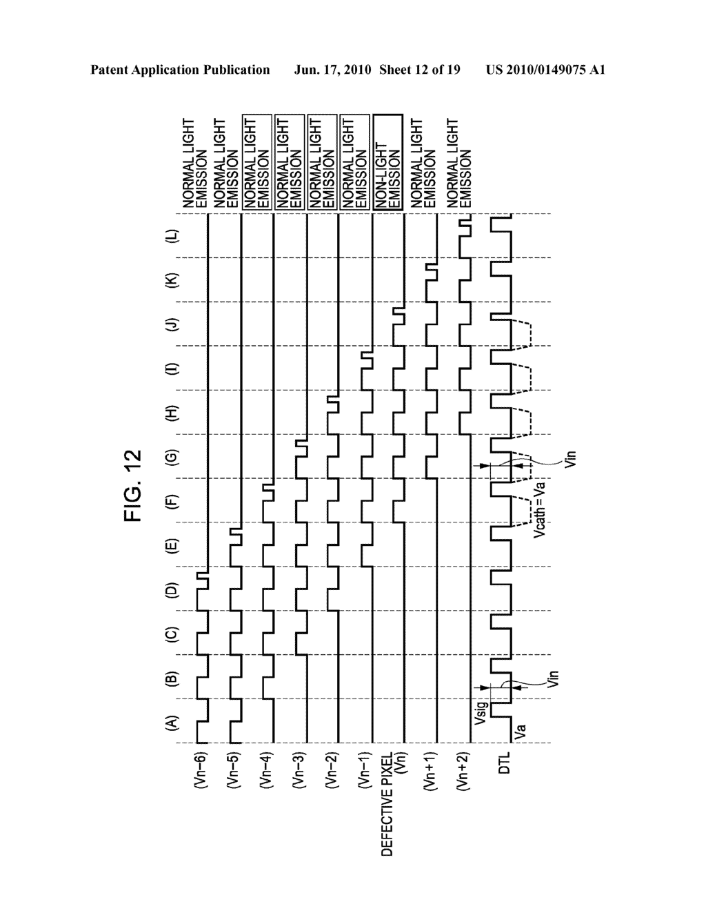DISPLAY DEVICE, METHOD FOR DRIVING THE SAME, AND ELECTRONIC APPARATUS - diagram, schematic, and image 13