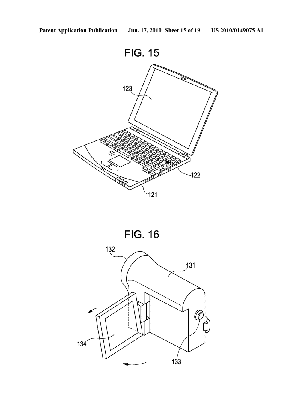 DISPLAY DEVICE, METHOD FOR DRIVING THE SAME, AND ELECTRONIC APPARATUS - diagram, schematic, and image 16