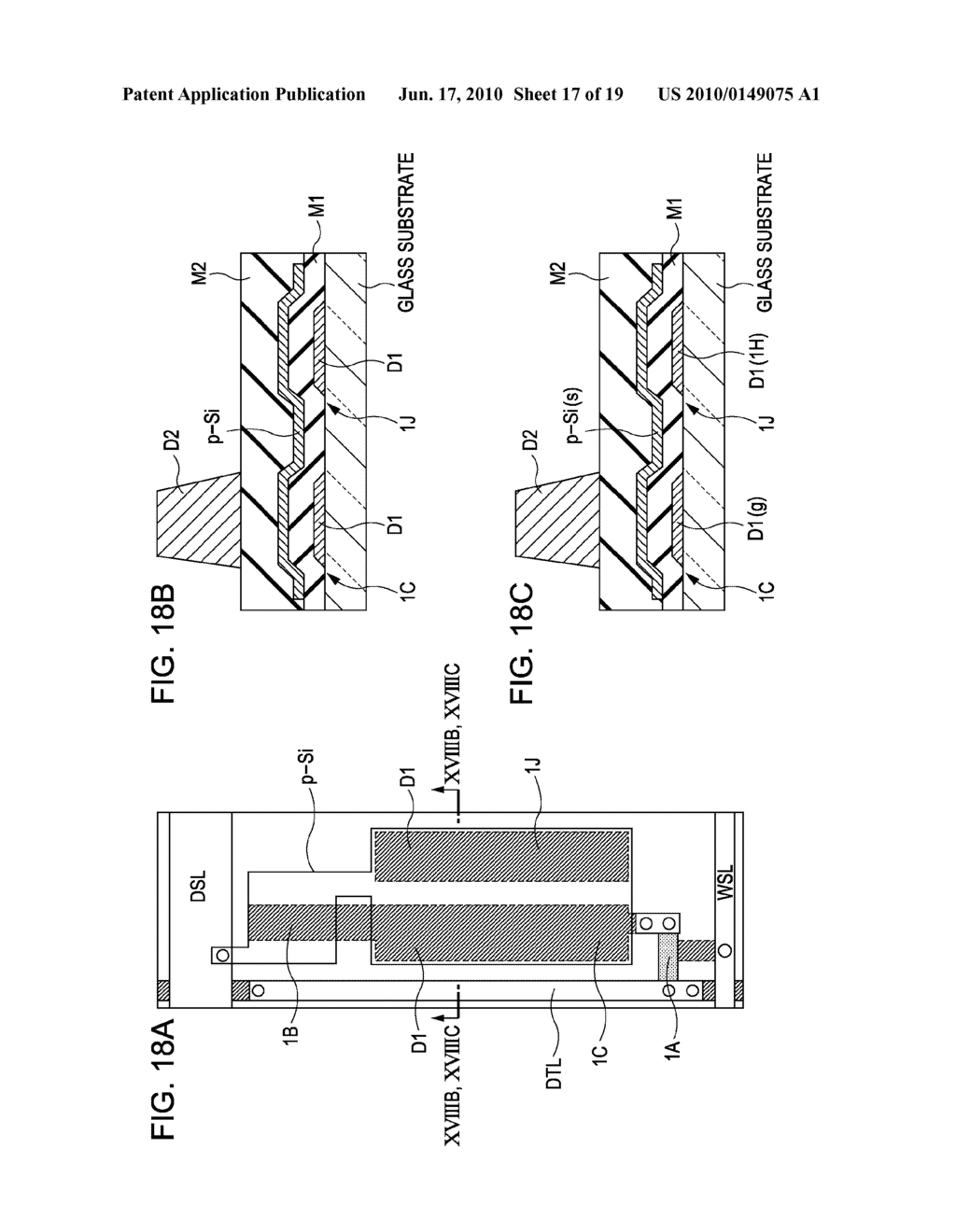 DISPLAY DEVICE, METHOD FOR DRIVING THE SAME, AND ELECTRONIC APPARATUS - diagram, schematic, and image 18