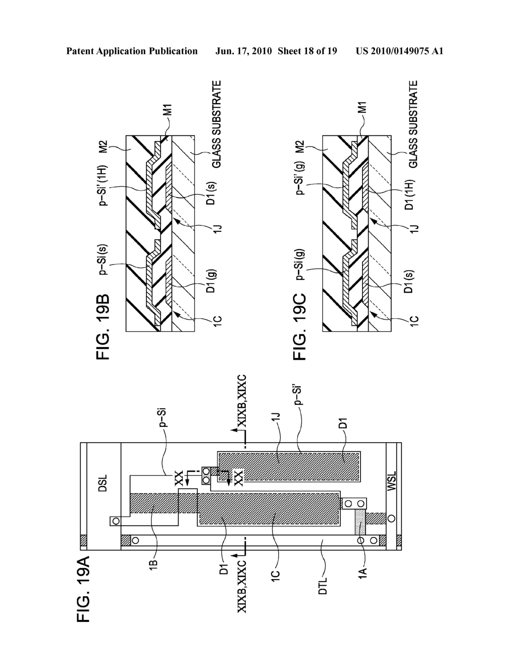 DISPLAY DEVICE, METHOD FOR DRIVING THE SAME, AND ELECTRONIC APPARATUS - diagram, schematic, and image 19