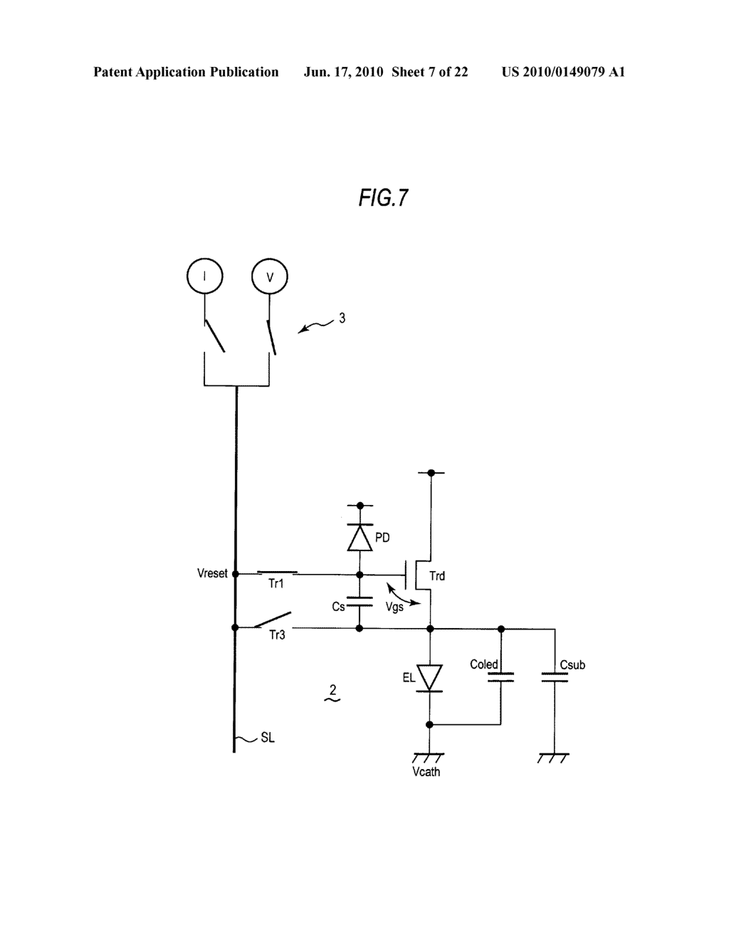 Display device, method of driving display device, and electronic apparatus - diagram, schematic, and image 08