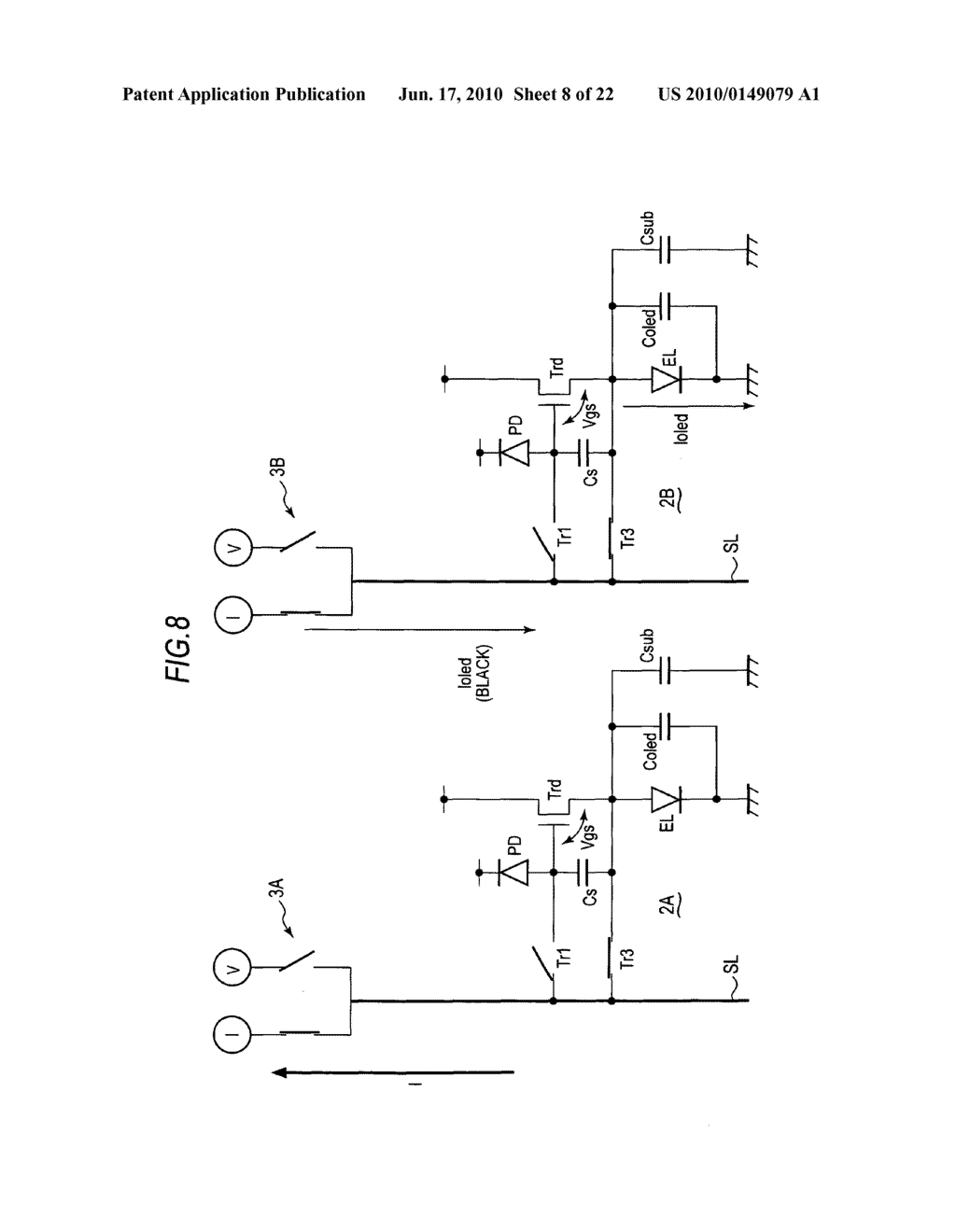 Display device, method of driving display device, and electronic apparatus - diagram, schematic, and image 09