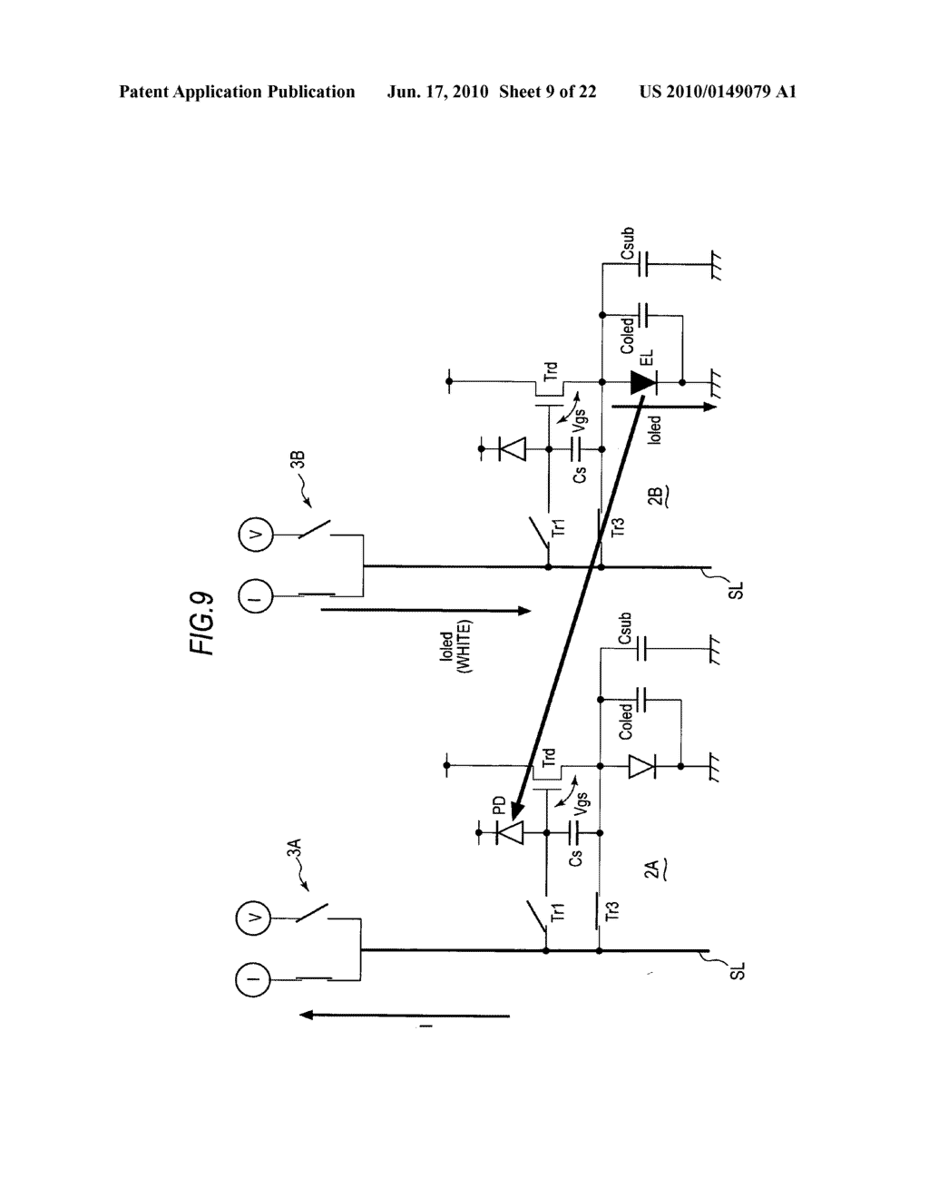 Display device, method of driving display device, and electronic apparatus - diagram, schematic, and image 10